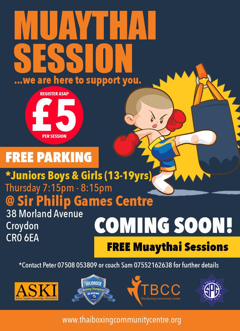 FREE-Muaythai-Sir-Philip-Game-Youth-Club-Juniors-13-19yrs-Poster2